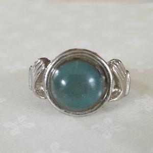 Vintage Claddagh Mood Ring Silvertone Adjustable